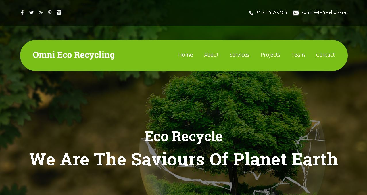 Eco-Recycle Website