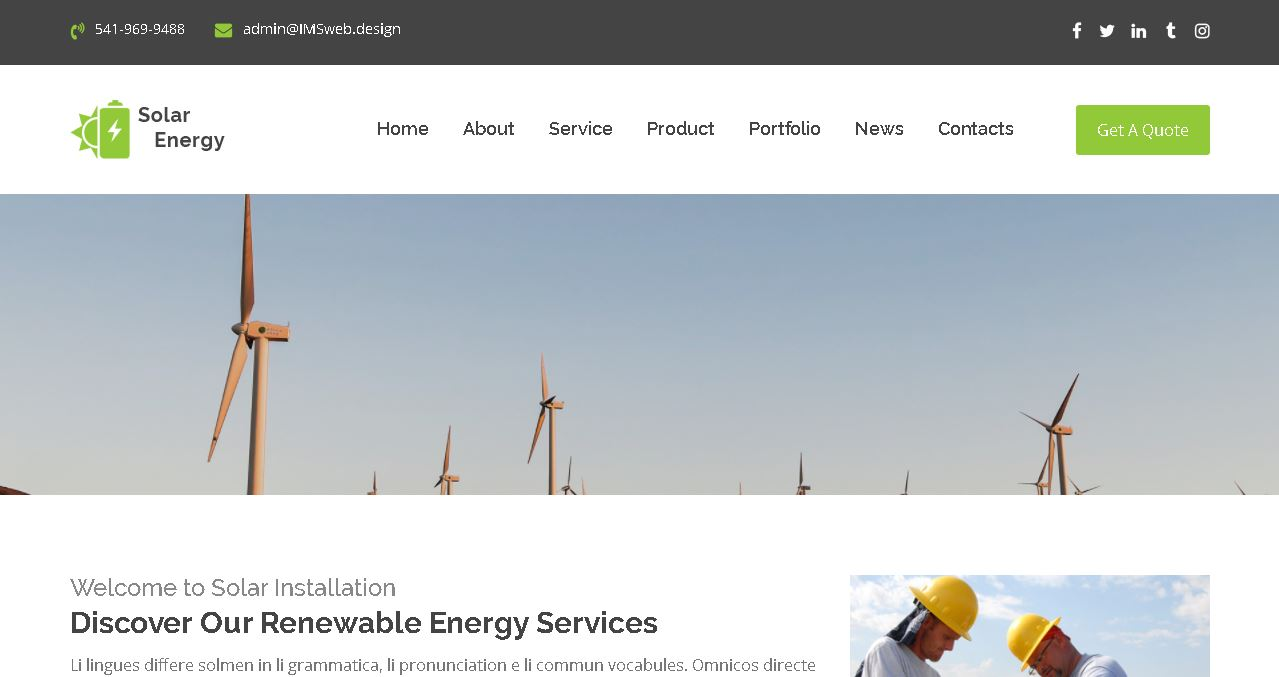 Solar Energy Website