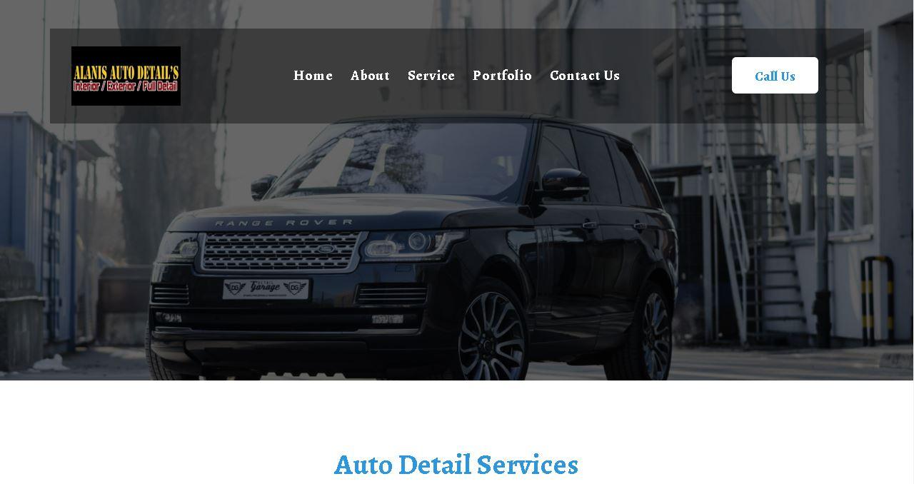 Auto Detail Shop Website