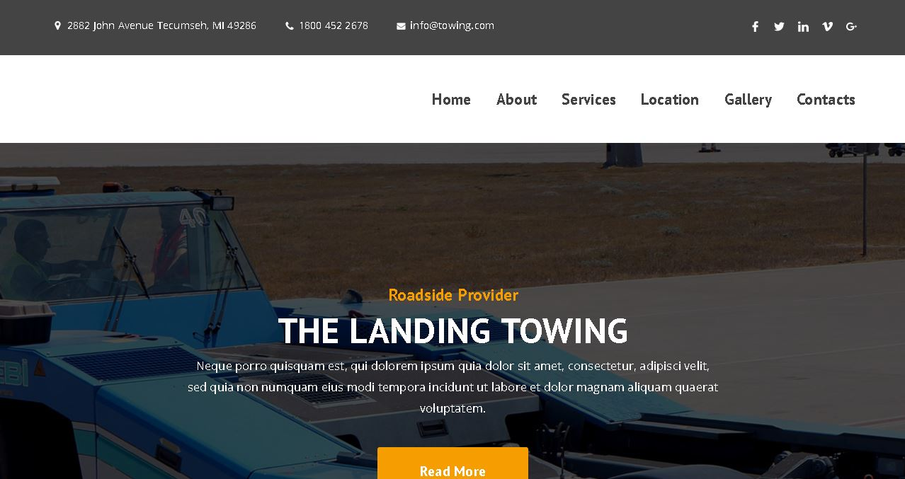 Auto Towing Company Website