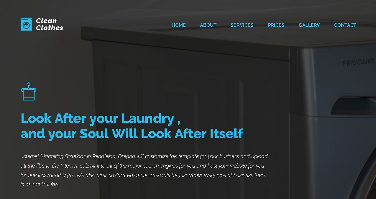 Dry Cleaning Website