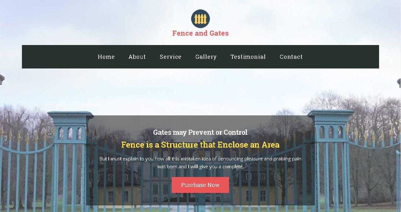 Fence Company Website