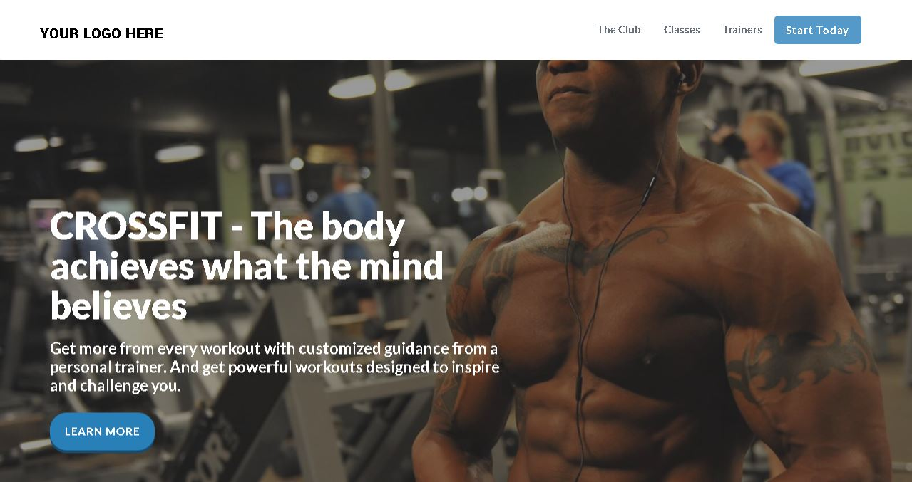Fitness Workout Website