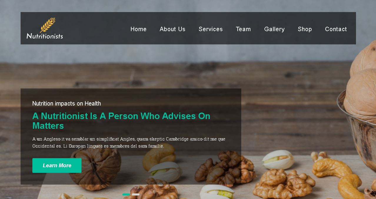 Nutritionists Website