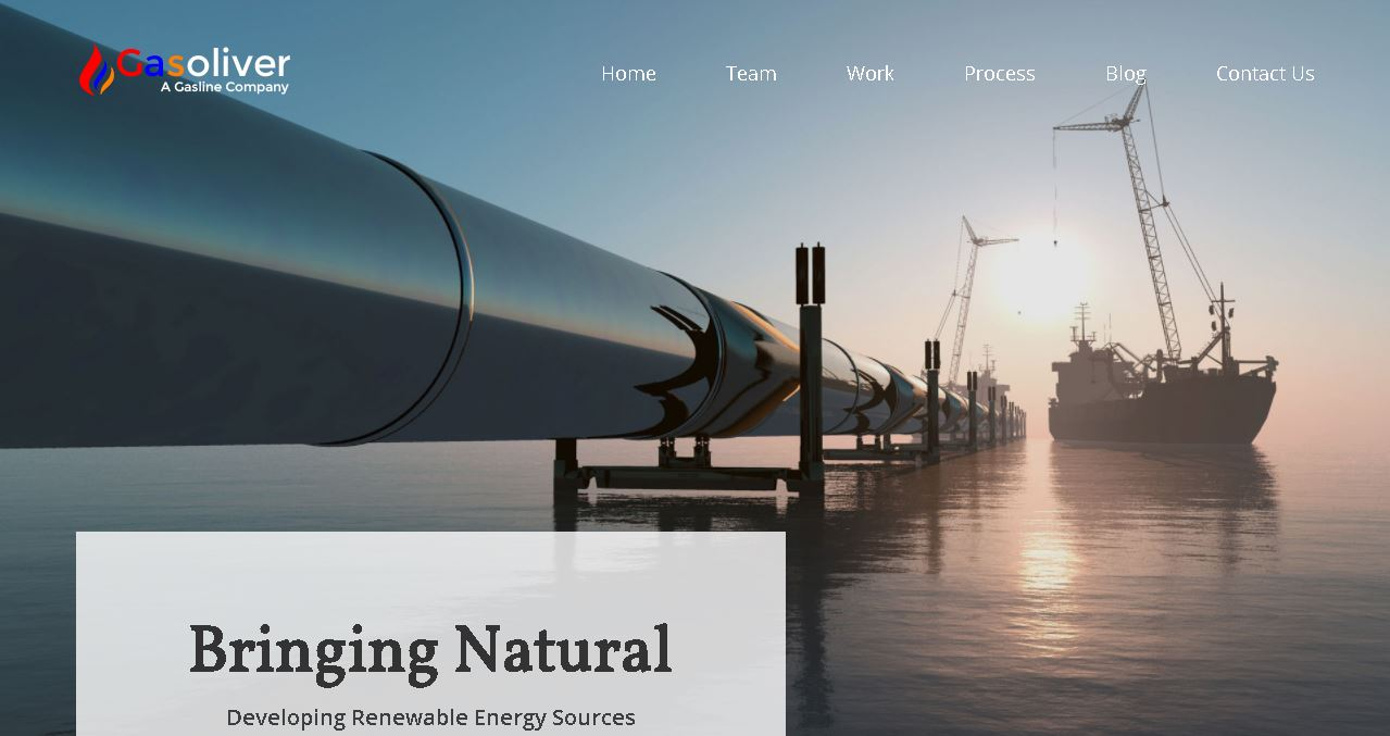 Oil & Gas Company Website