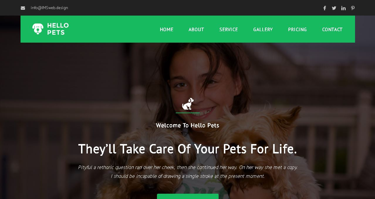 Pet Services Deluxe Website