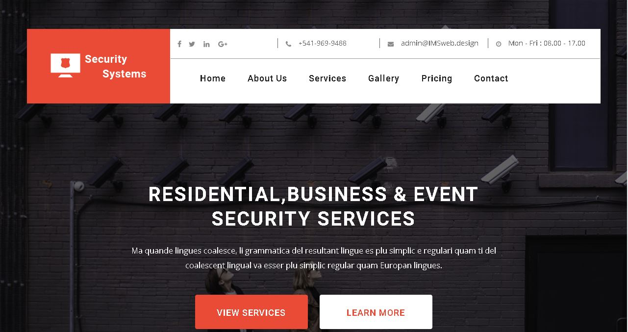 Security Systems Website