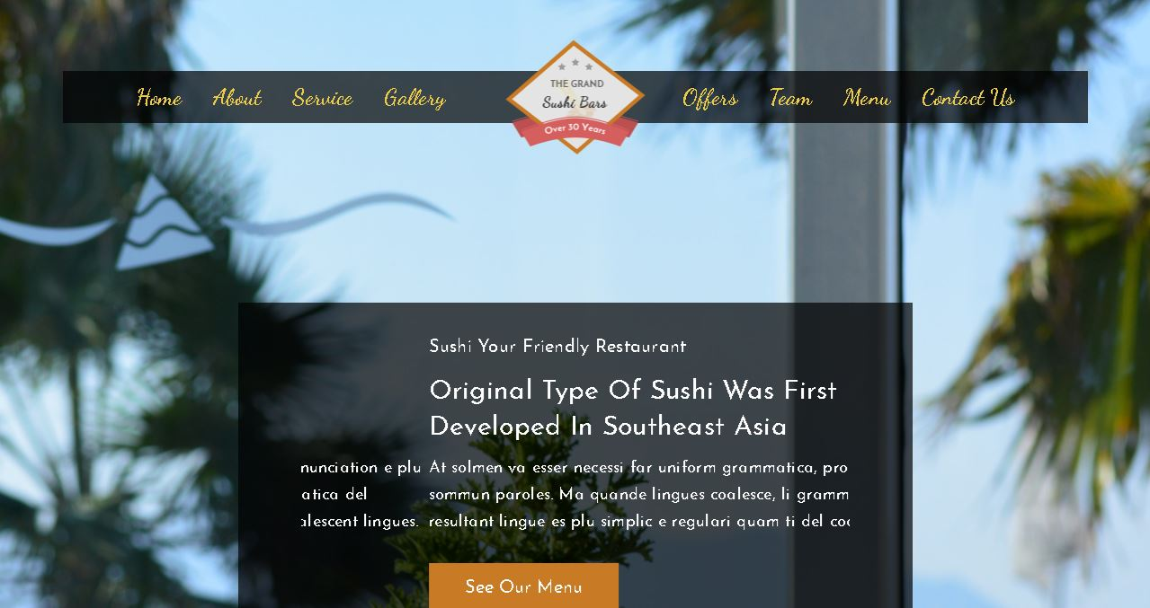 Sushi Bar Deluxe Website