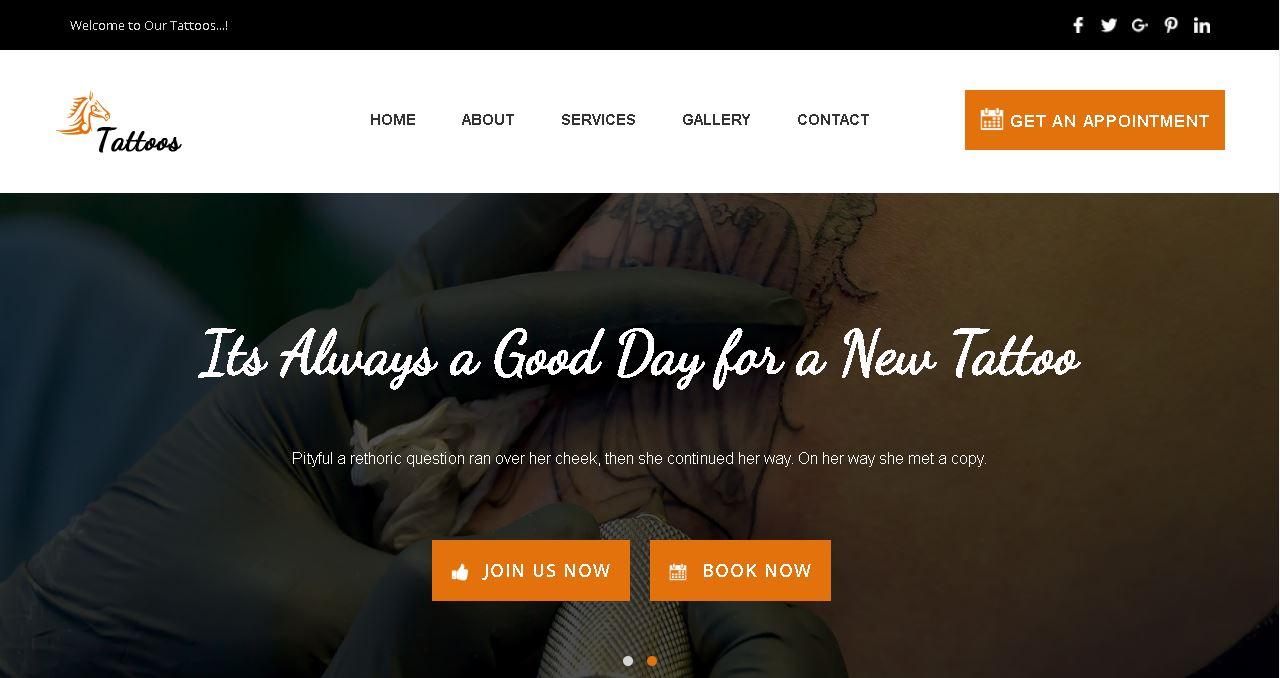 Tattoo Shop Website