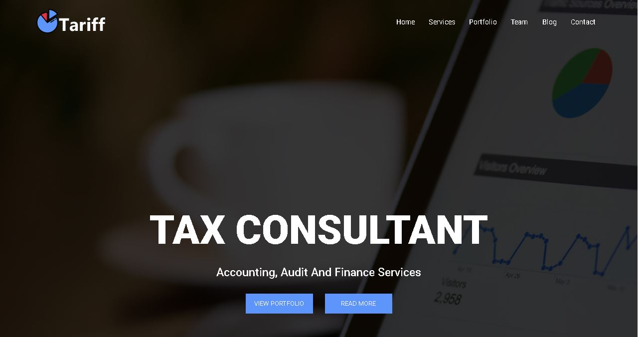 Tax Consultant Website